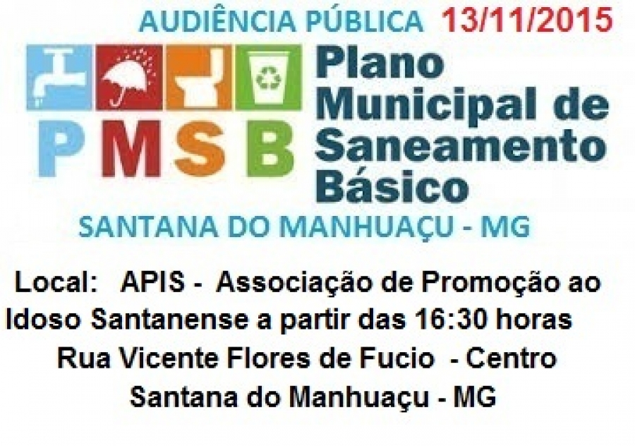 Plano Municipal de Saneamento Básico de Santana do Manhuaçu